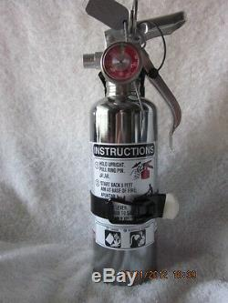 1 lb. CHROME BC FIRE EXTINGUISHER NEW (2018) CERTIFIED IN BOX (AMEREX)