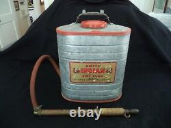 1963 Smith Indian Fire Pump tank wand backpack fire extinguisher Utica New York