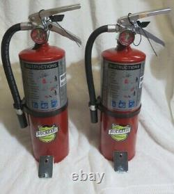 2-NEW BUCKEYE 5-LB ABC 2021 CERT. FIRE EXTINGUISHER WithWALL HOOK WithSIGN