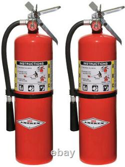 2 Pack Amerex B456 10 lbs ABC Dry Chemical Fire Extinguisher with Aluminum Valve
