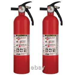 2 Pack Fire Extinguisher Dry Chemical Powder Home Office Shop Safety 1-A10-BC