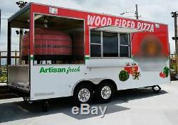 2017 8.6' x 20' Wood Fired Pizza Concession Trailer for Sale in Missouri