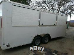 2018 20' Enclosed Concession Trailer Ready to be Customized for Sale in Texas