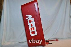 (4 Pack) 5 Lb Red Fire Extinguisher Cabinet Indoor/outdoor Free Shipping
