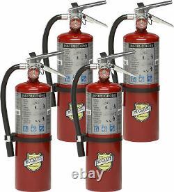 4-Pack Buckeye 10914 ABC Multipurpose Dry Chemical Hand Held Fire Extinguisher w