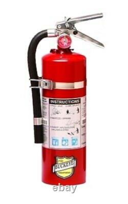 5 LB. ABC Fire Extinguisher With Vehicle Bracket-Tagged 2021 Ready For Inspection