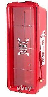 (6) Heavy Duty Plastic Fire Extinguisher Cabinets 10# Red