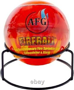 AFG Fireball Automatic Fire Extinguisher Ball with Stand and Sign Red Design