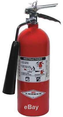 AMEREX 322 Fire Extinguisher, 5BC, Carbon Dioxide, 5 lb, 17-3/4H