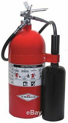 AMEREX 330 Fire Extinguisher, 10BC, Carbon Dioxide, 10 lb, 24H