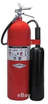 AMEREX 331 Fire Extinguisher, 10BC, Carbon Dioxide, 15 lb