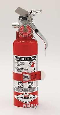 AMEREX A384T Fire Extinguisher, 1BC, Halotron, 1-13/32 lb