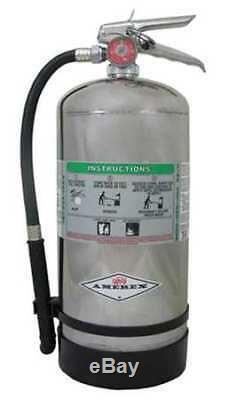 AMEREX B260 Fire Extinguisher, 2AK, Wet Chemical, 12-11/16 lb