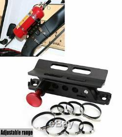 Adjustable Roll Bar Fire Extinguisher Mount Rack For Jeep Wrangler JK JL TJ CJ