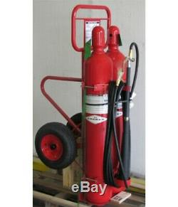 Amerex 334 100 LB Co2 Wheeled Fire Extinguisher Charged, 3yrs old