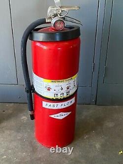 Amerex 567 30lb ABC Fire Extinguisher New Brass Valve Wall Bracket Free Shipping