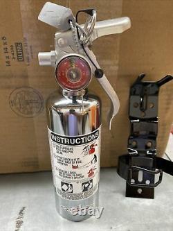 Amerex A384tc 1.4 Lb Halotron Fire Extinguisher With Bracket. Chrome
