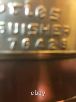 Antique Fire Extinguisher Buffalo, New York, 1920's empty copper & brass