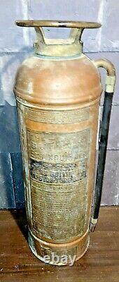 Antique New York Central Railroad Fire Extinguisher empty copper & brass