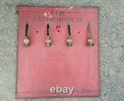 Antique c. J cross mfg new york fire extinguisher display