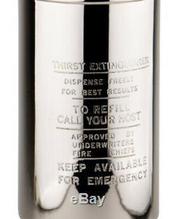 Authentic Models CS002 Fire Extinguisher Cocktail Shaker Silver-plated Inside