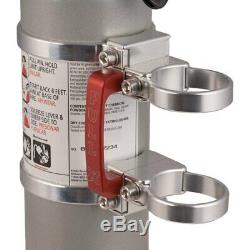 Axia Alloys 2 Lb Bright Clear Anodized Fire Extinguisher w Quick Release Mount