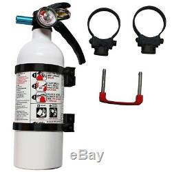Axia Alloys Quick Release 2 lb. Fire Extinguisher with 2.0 Mount Bright Black