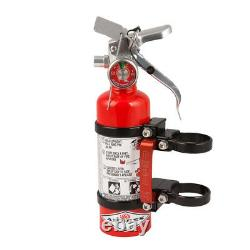 Axia Alloys Quick Release Fire Extinguisher & Clamps 1.4 LB Halotron Red