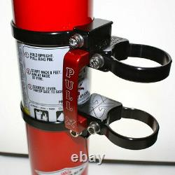 Axia Alloys Quick Release Fire Extinguisher & Clamps 2.5 LB Extinguisher Red