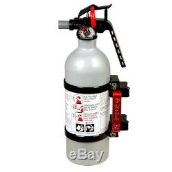 Axia Alloys Quick Release Fire Extinguisher Mount with 2lb Extinguisher Black