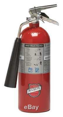 BUCKEYE 45100 Fire Extinguisher, 5BC, Carbon Dioxide, 5 lb, 18H