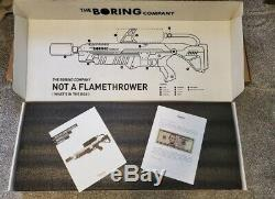 BUNDLE The Boring Company Not-A-Flamethrower, A HAT, AND A FIRE EXTINGUISHER
