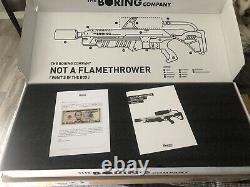 Boring company not a flamethrower and fire extinguisher