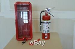 Brand New 5lb Red Fire Extinguisher Cabinet And 5lb Abc Fire Extinguisher Combo