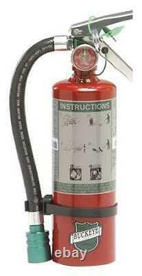 Buckeye 70259 Fire Extinguisher, 2BC, Halotron, 2.5 Lb
