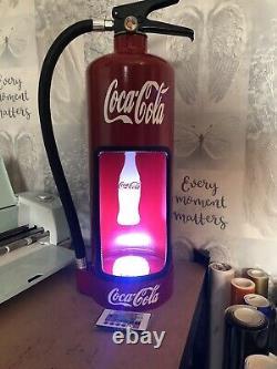Coca Cola Fire Extinguisher Light Display