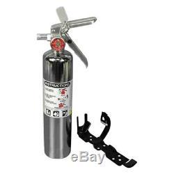 Eddie Marine EXT-106 2-1/2 lb Chrome Fire Extinguisher Clean Agent
