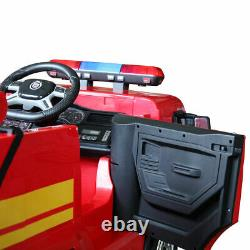 Electric Kids Ride On Truck withFire Extinguisher Water Pistol Child Play Toy Gift