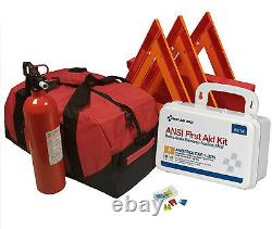 Essential All-in-One DOT OSHA ANSI Compliant Kit with Kidde Fire Extinguisher