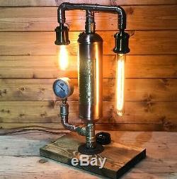 Fantastic Simplex Fire Extinguisher Lamp, Light Steampunk Edison, Copper & Brass