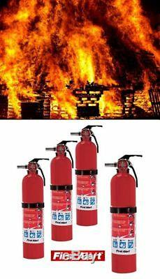 Fire Extinguisher ABC 10 LBS Set 4 Pack Electrical Flammable Liquid First Alert