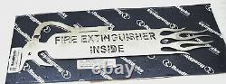 Fire Extinguisher Inside cut outs 18.5 stainless steel withflames semi truck pair