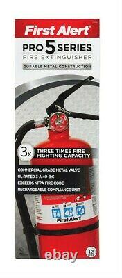 First Alert PRO5 Red Heavy Duty Fire Plus Extinguisher 10.2 lbs. (Pack of 2)