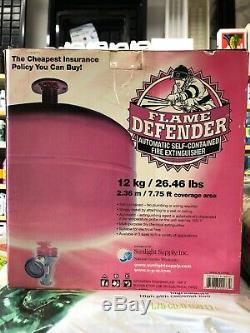 Flame Defender Automatic Self-contained Fire Extinguisher 12kg 26.46lb Brand New