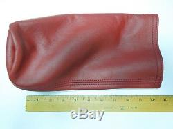 Genuine Red Leather Ferrari Nos Fire Extinguisher Cover 65644805 New