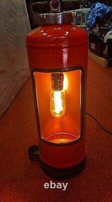 German Fire Extinguisher Lamp Vintage Industrial Upcycle Mancave Garage Retro