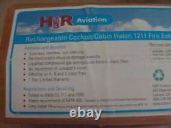 H3R Aviation Cockpit Cabin Halon 1211 Fire Extinguisher Model A 344T