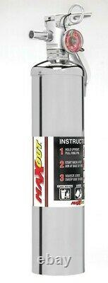 H3R Fire Extinguisher Maxout Dry Chemical Class ABC 2B C Rated 2.5lb Chrome