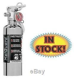 H3R HG100C 1.4 Lb HalGuard Fire Extinguisher Chrome