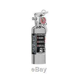 H3R Performance 1.4 lb. HalGuard Chrome Clean Agent Fire Extinguisher HG100C